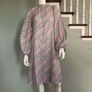 1970's Pastel Striped Dress